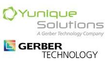 Yunique Solutions and Gerber Technology Logo